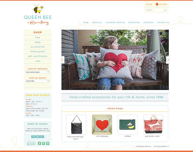 Queen Bee handmade web design
